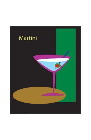 Martini in Black Giclee Print