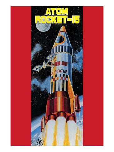 Atom Rocket-15 Art Print