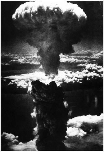 Atomic Bomb (Bombing of Nagasaki) Archival Photo Poster Poster