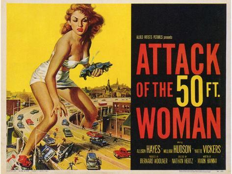 Attack of the 50 Foot Woman, 1958 Art Print