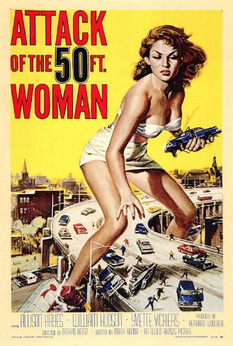 Attack of the 50 Foot Woman Framed Canvas Print