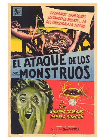 Attack of the Crab Monsters, Spanish Movie Poster, 1957 Art Print