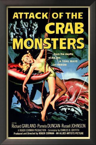Attack of the Crab Monsters Impressão artística emoldurada