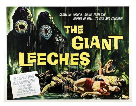 Attack Of The Giant Leeches - 1959 I Impressão giclée