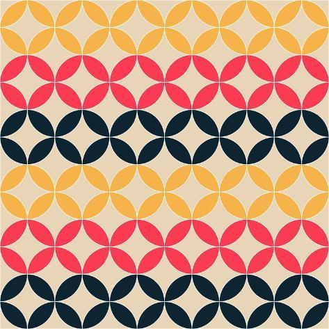 Abstract Geometric Artistic Pattern Background Art Print