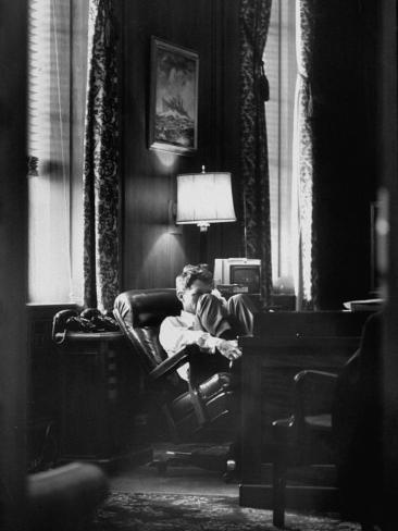 Attorney General Robert F. Kennedy Sitting in Chair in His Office Photographic Print
