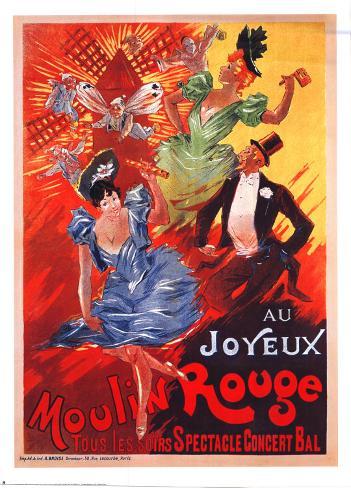 Au Joyeux Moulin Rouge Art Print