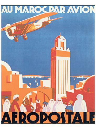 オールポスターズの au maroc par avion aeropostale ポスター