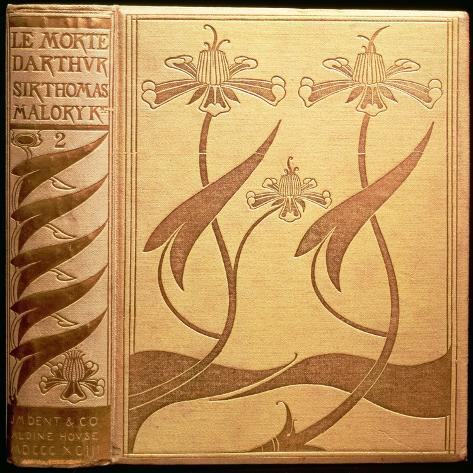 Cover of 'Le Morte D'Arthur' Lámina giclée