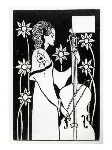 Lady with Cello, from 'Le Morte D'Arthur' Giclee Print