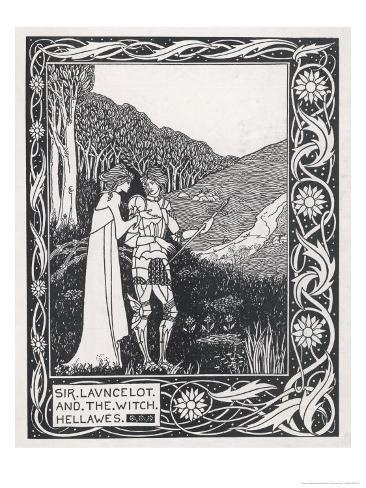 Sir Lancelot and the Witch Hellawes Giclee Print