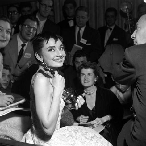 Audrey Hepburn, 1953. 26th Annual Academy Awards, Best Actress for