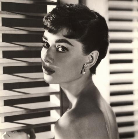Audrey Hepburn Blinds Art Print