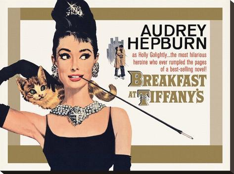 Audrey Hepburn (Breakfast at Tiffany's - Gold) Stampa su tela