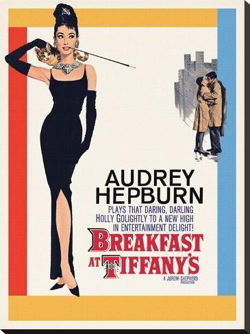 Audrey Hepburn -Breakfast at Tiffanys One Sheet Stampa su tela