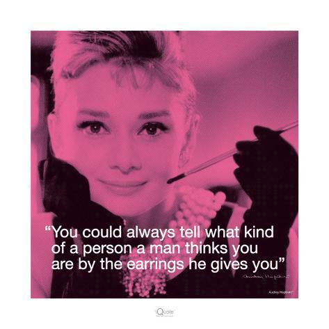 Audrey Hepburn: Earrings Art Print