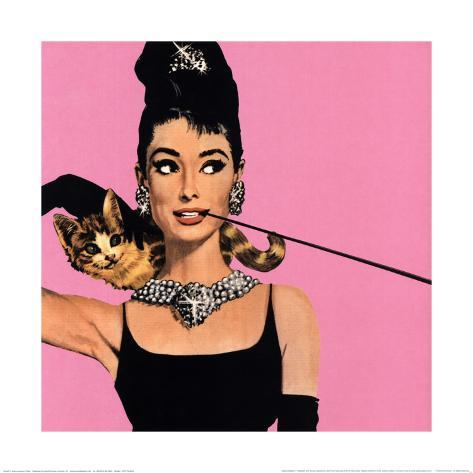 Audrey Hepburn em Bonequinha de Luxo Impressão artística emoldurada