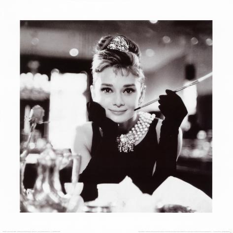 Audrey Hepburn i Frukost på Tiffany's Konstprint