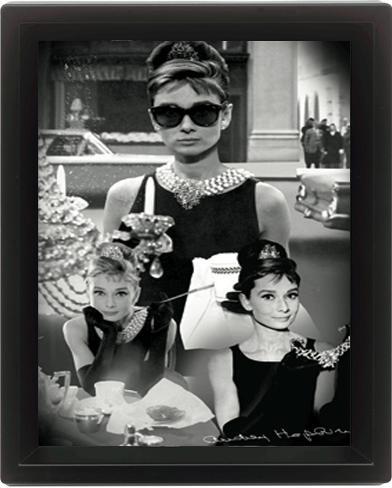 Audrey Hepburn (Montage) 3 Dimensional Poster
