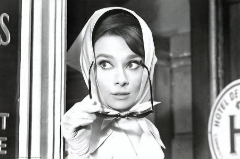 Audrey Hepburn Movie (Scarf) Poster Print Posters - at AllPosters.com.au
