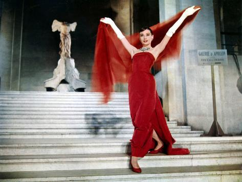 Audrey Hepburn on the Steps of the Louvre, in the Film 'Funny Face', 1957 Photo