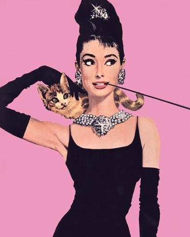 Audrey Hepburn - Pink Mini Poster