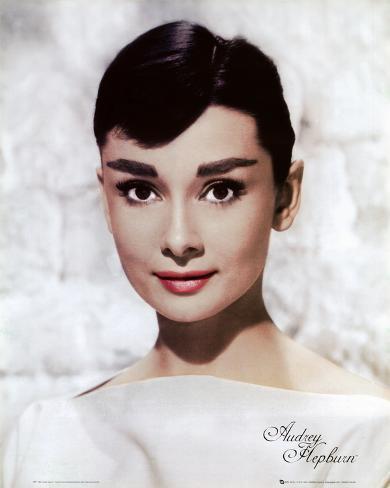 Audrey Hepburn - White Mini Poster