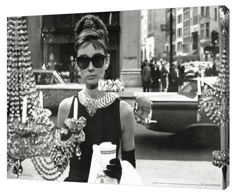 Audrey Hepburn - Window Stretched Canvas Print