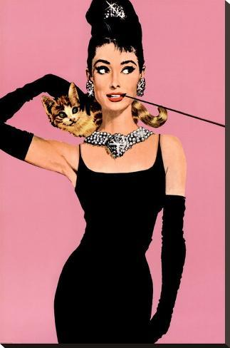 Audrey Hepburn Impressão em tela esticada