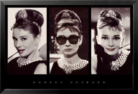 Audrey Hepburn Lamina Framed Poster