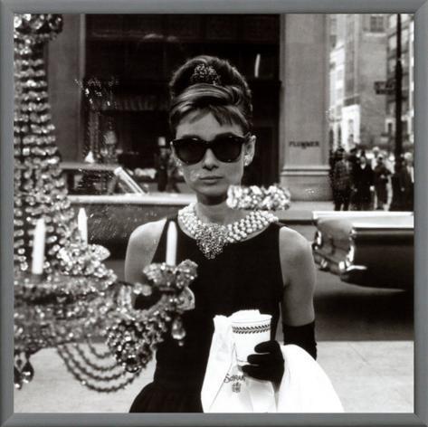 Audrey Hepburn Impressão em tela emoldurada