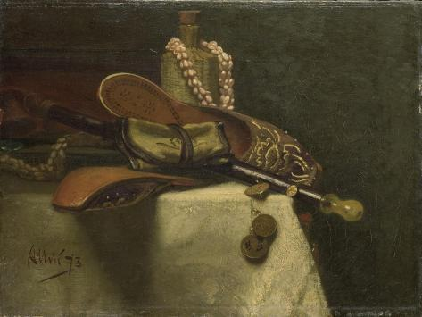 Still Life with Oriental Slippers Art Print