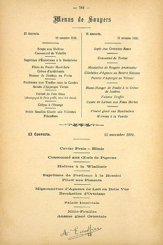 Menus De Soupers Premium Giclee Print