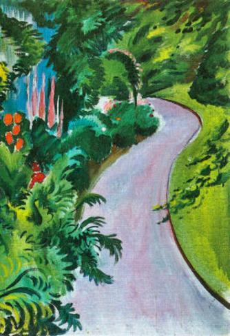 August Macke Path in the Garden Art Print Poster Masterprint