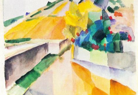 August Macke Vineyards on Lake Murten Art Print Poster Masterprint