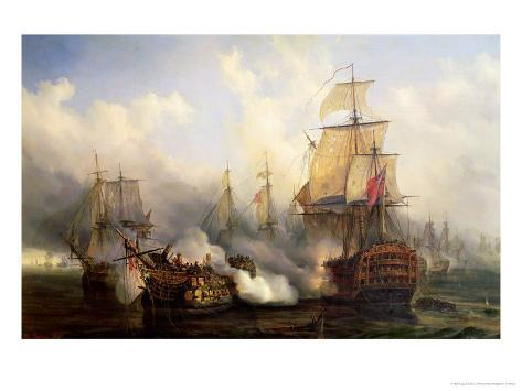 The Redoutable at Trafalgar, 21st October 1805 Giclee Print