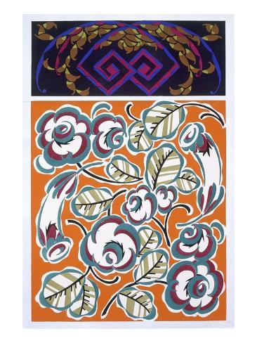 Interior Design Pattern, Plate 4 from 'Formes Et Couleurs', Published C.1930 (Colour Litho) Giclee Print