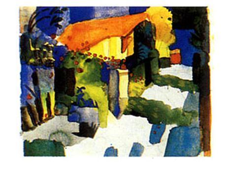Haus im Garten, 1914 Art Print