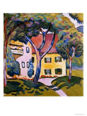 House in a Landscape Giclee Print
