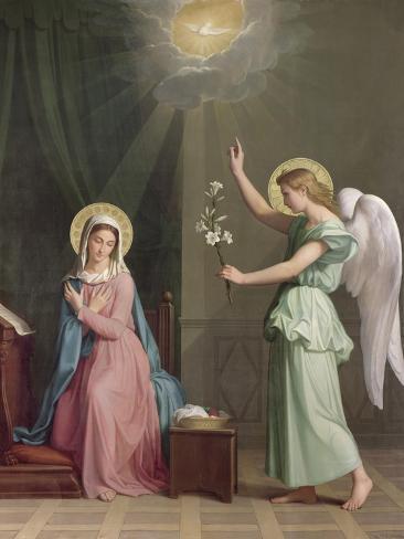 The Annunciation, 1859 Giclee Print