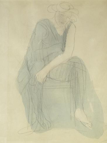Seated Woman Lámina giclée