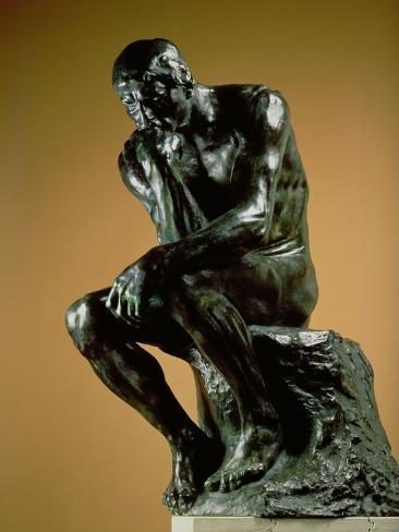 the thinker 1881 giclee print by auguste rodin at allposters com