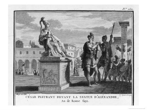 Caesar Weeps Before the Statue of Alexander Giclee Print