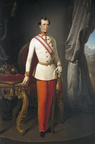 Austria, Portrait of Emperor of Austria Franz Joseph I Giclee Print
