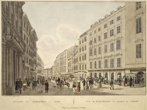 Austria, Vienna, Kohlmarkt Street with Headquarters of Artaria Publishing House in Color Giclee Print