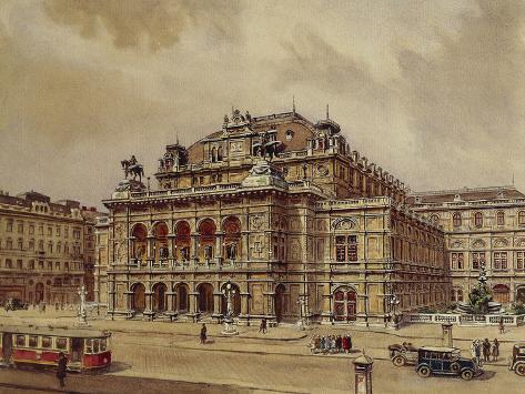 Austria, Vienna, Opera House Photographic Print