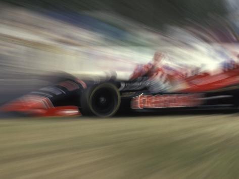 Auto Racing Action Photographic Print