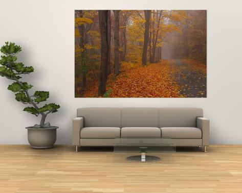 Autumn Road, Monadnock Mountain, New Hampshire, USA Laminated Oversized Art