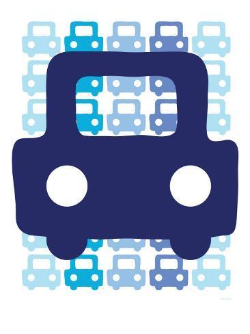 Blue Auto Art Print