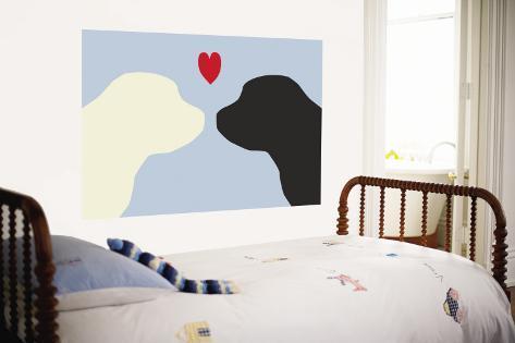 Blue Puppy Love Wall Mural